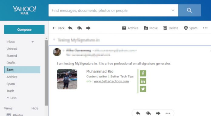 How to Add Social Media Icon to Email Signature in Yahoo! Mail