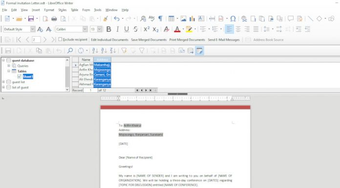 How to Use Mail Merge on LibreOffice Writer – Better Tech Tips