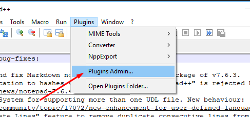 install notepad++ plugin manager